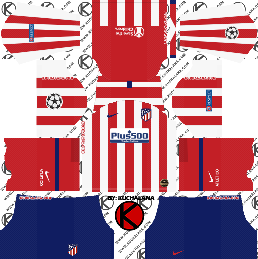 Atletico Madrid 2019 2020 Kit Dream League Soccer Kits Kuchalana