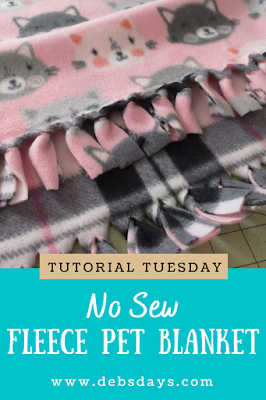 Homemade Quick and Easy No Sew Fringed Fleece Blanket
