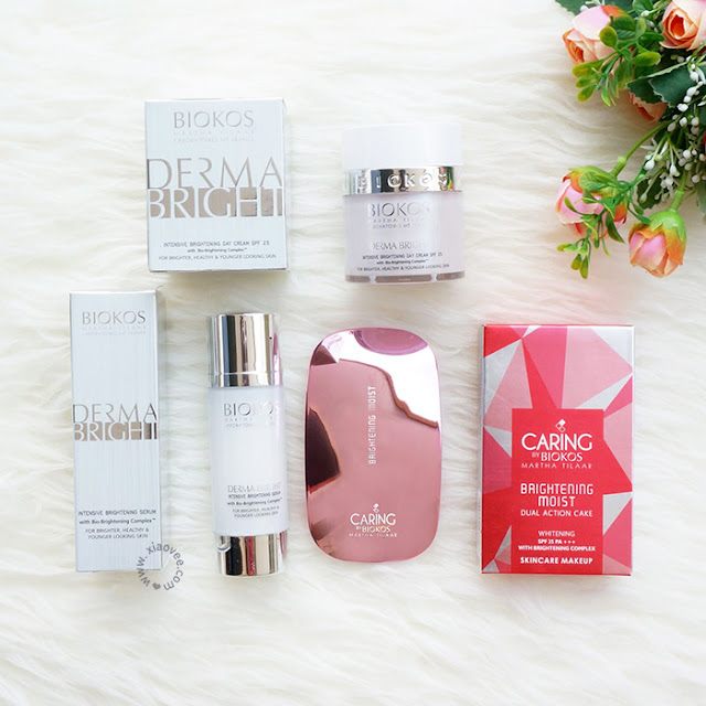 Biokos Derma Bright Review, Biokos Derma Bright Intensive Brightening Serum Review, Biokos Derma Bright Intensive Brightening Day Cream Review, Caring Colors by Biokos Brightening Moist Dual Action Review, Biokos Review Bahasa Indonesia, Makeup Biokos bagus?, Apakah Makeup biokos jelek?, kosmetik biokos bagus?, apakah kosmetik biokos jelek?, Review Perawatan Kulit Biokos