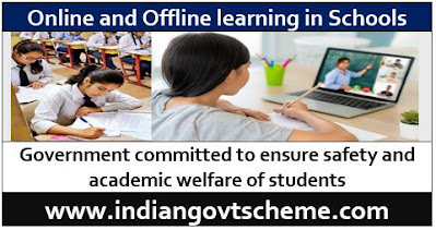 Online and Offline learning in Schools