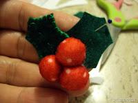 guirlanda de natal feita em feltro pap e moldes