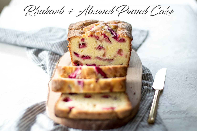 Rhubarb + Almond Pound Cake