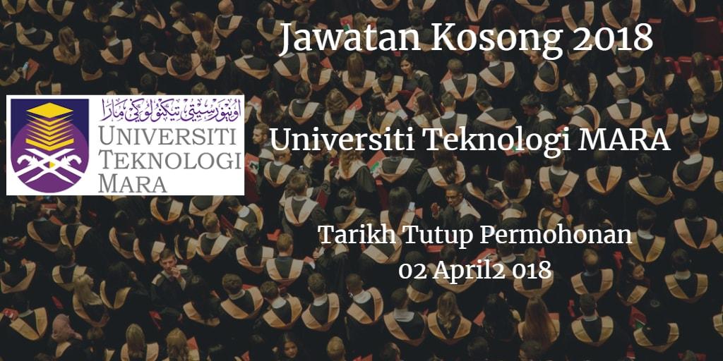 Jawatan Kosong UiTM 02 April 2018