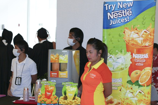 Nestle juice booth