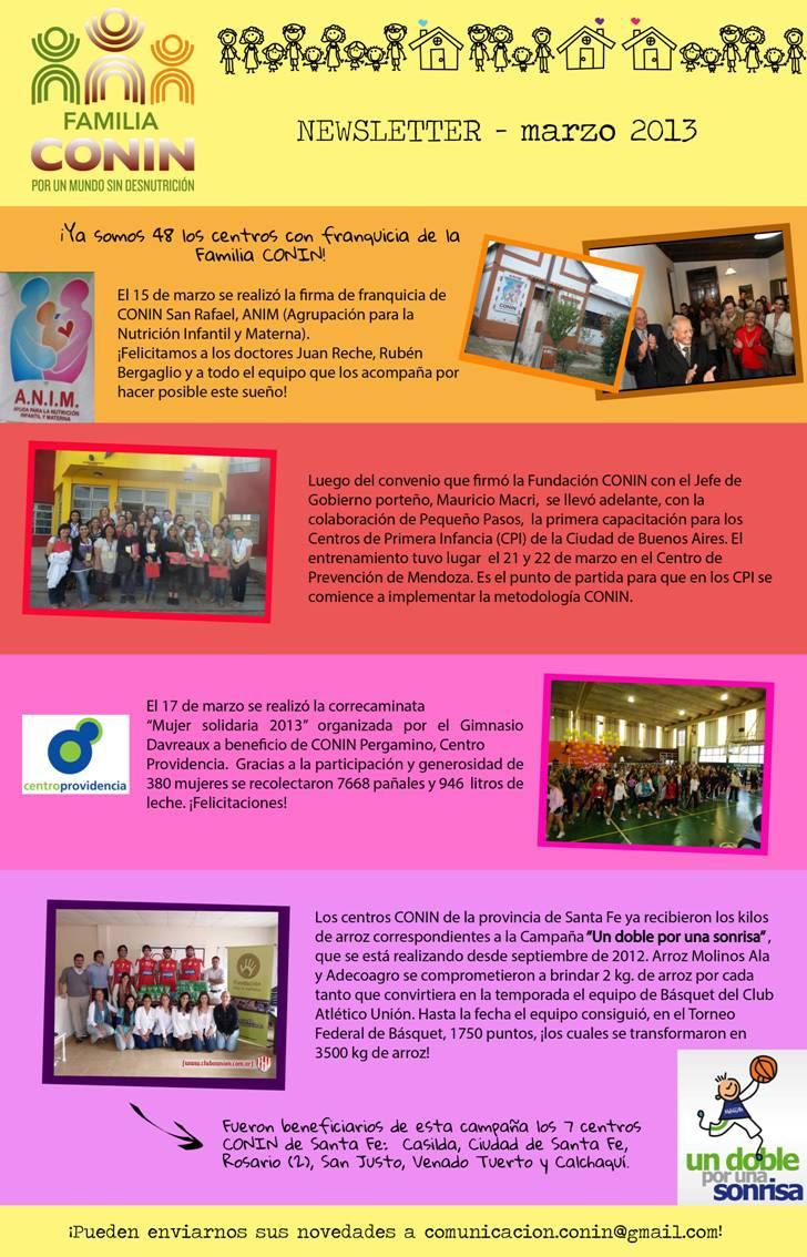 Centro Providencia Red Conin Marzo 2013