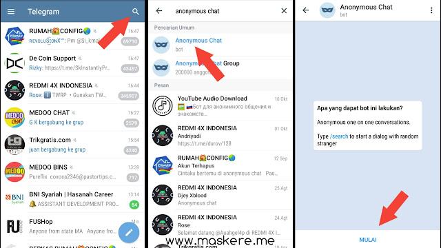 Cara Anonymous Chat Telegram Indonesia