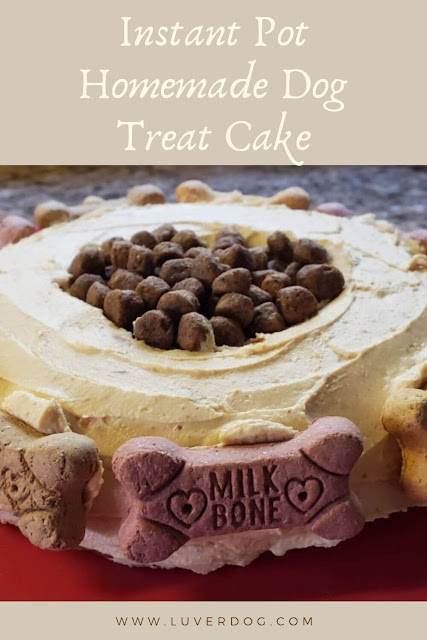 Instant Pot Homemade Dog Treat Cake