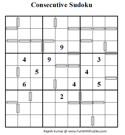 photo regarding Sudoku Printable Pdf identify Consecutive Sudoku (Everyday Sudoku League #54)-Enjoyable With Puzzles