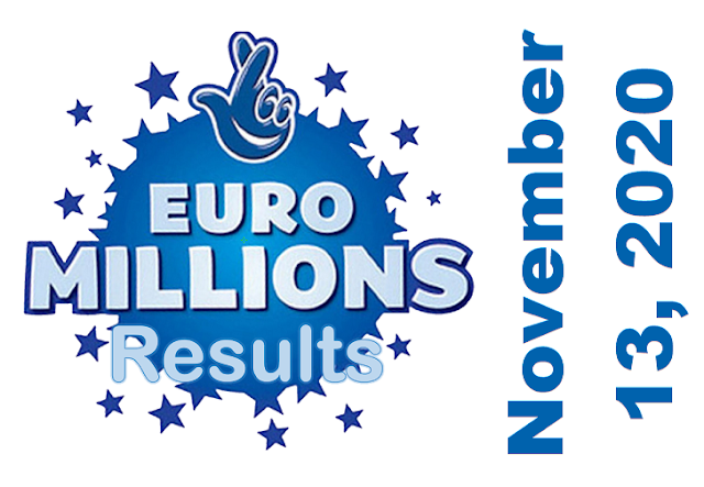 EuroMillions Results for Friday, November 13, 2020