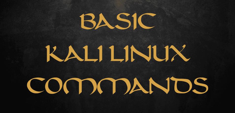 Basic Kali Linux Commands - KaliTut