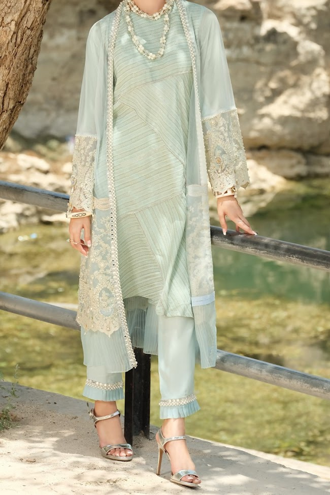 Almirah Sea green color dresses Formal collection