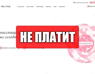 Скриншоты выплат с хайпа alicetrade.cc