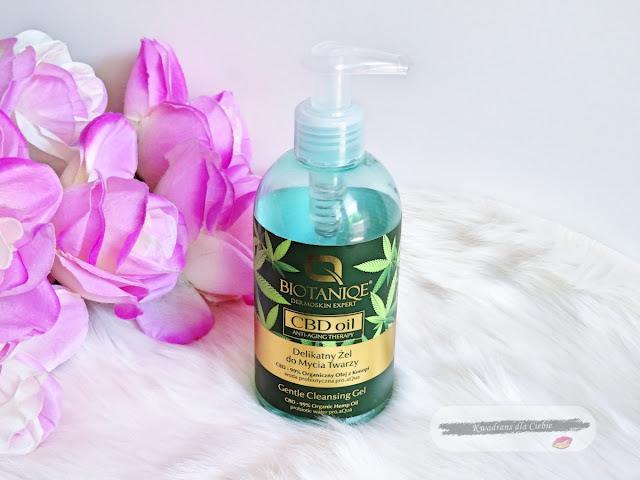 BIOTANIQE CBD Oil anti-aging therapy delikatny żel do mycia twarzy,  żel do mycia twarzy biotaniqe,