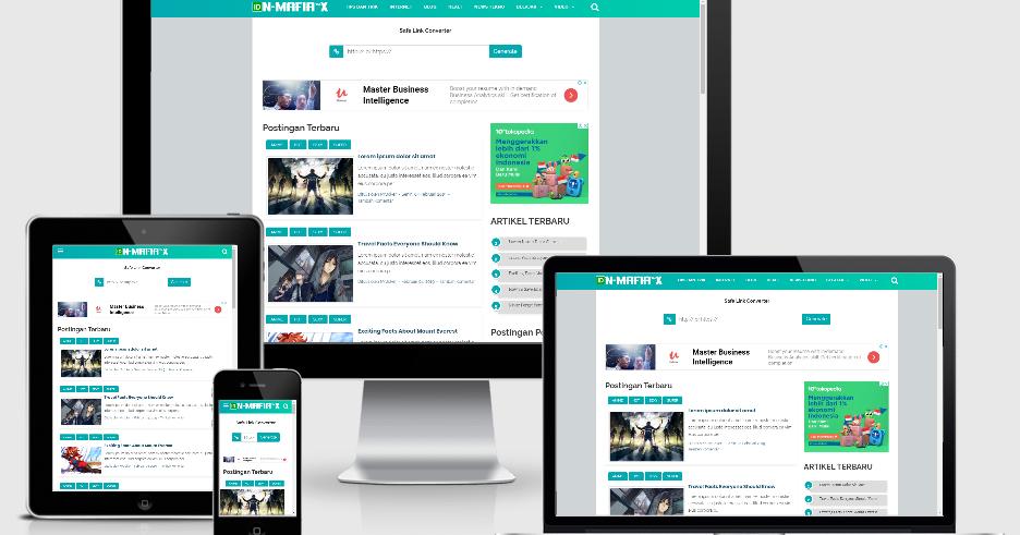 Safelink VioMagz V Premium Blogger Template