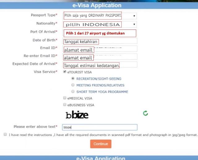visa online india formulir