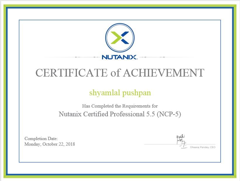 Nutanix Trainer