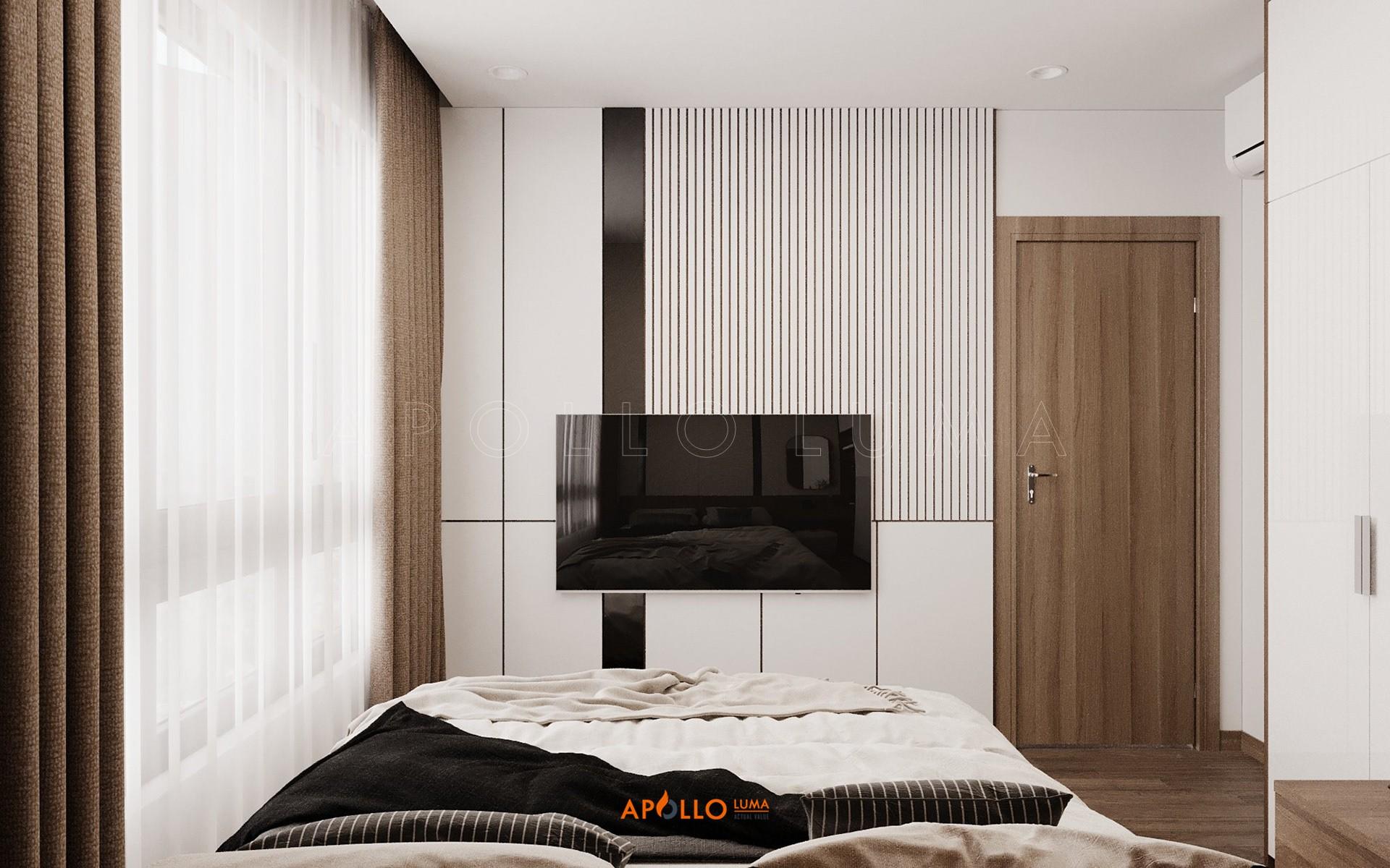 Thiết kế nội thất căn hộ 2PN+2WC Vinhomes Ocean Park Gia Lâm