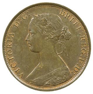 British Coins Halfpenny 1862 Queen Victoria