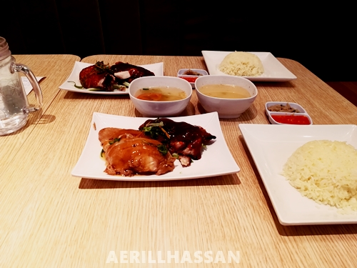 Makan di The Chicken Rice Shop, Metro Point Kajang