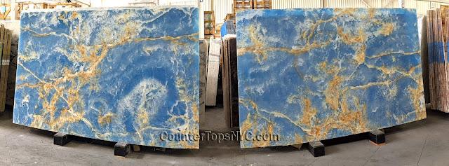Blue Marble Onyx Polished NYC