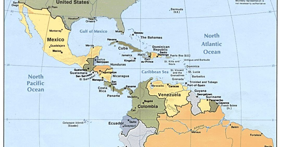 Online Maps: Latin America political map