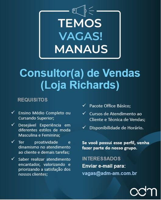 O Boticário, Vagas Manaus