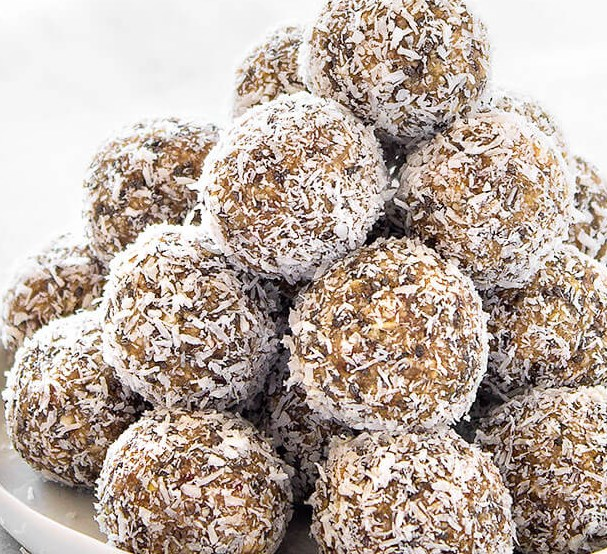 HEALTHY LEMON COCONUT ENERGY BALLS #nobake #diet