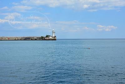 черное море крым, отдых в крыму ялта, маяк фото