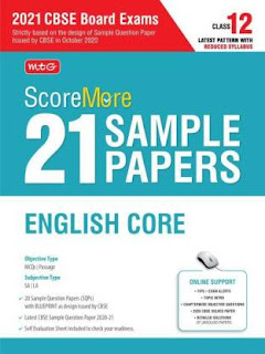 MTG Score More 21 Sample Papers English Core For CBSE Board Exam 2021
