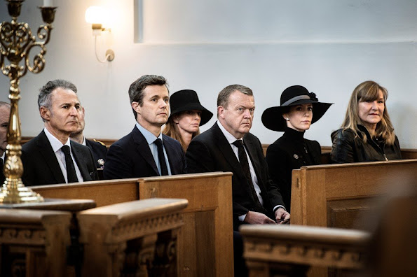 Crown Prince Frederik of Denmark and Princess Marie of Denmark attended a mass for the terrorist attacks victims in Paris on November 15, 2015 at the Copenhagen Church