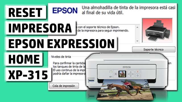 Reset impresora EPSON Expression Home XP-315