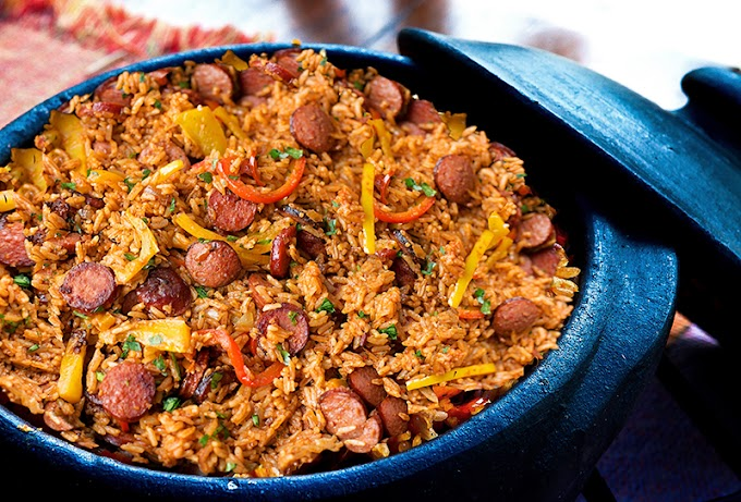 Sausage, Pepper and Rice Skillet #dinnerrecipe #food #amazingrecipe #easyrecipe