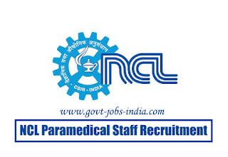 NCL Paramedical Staff Recruitment 2020