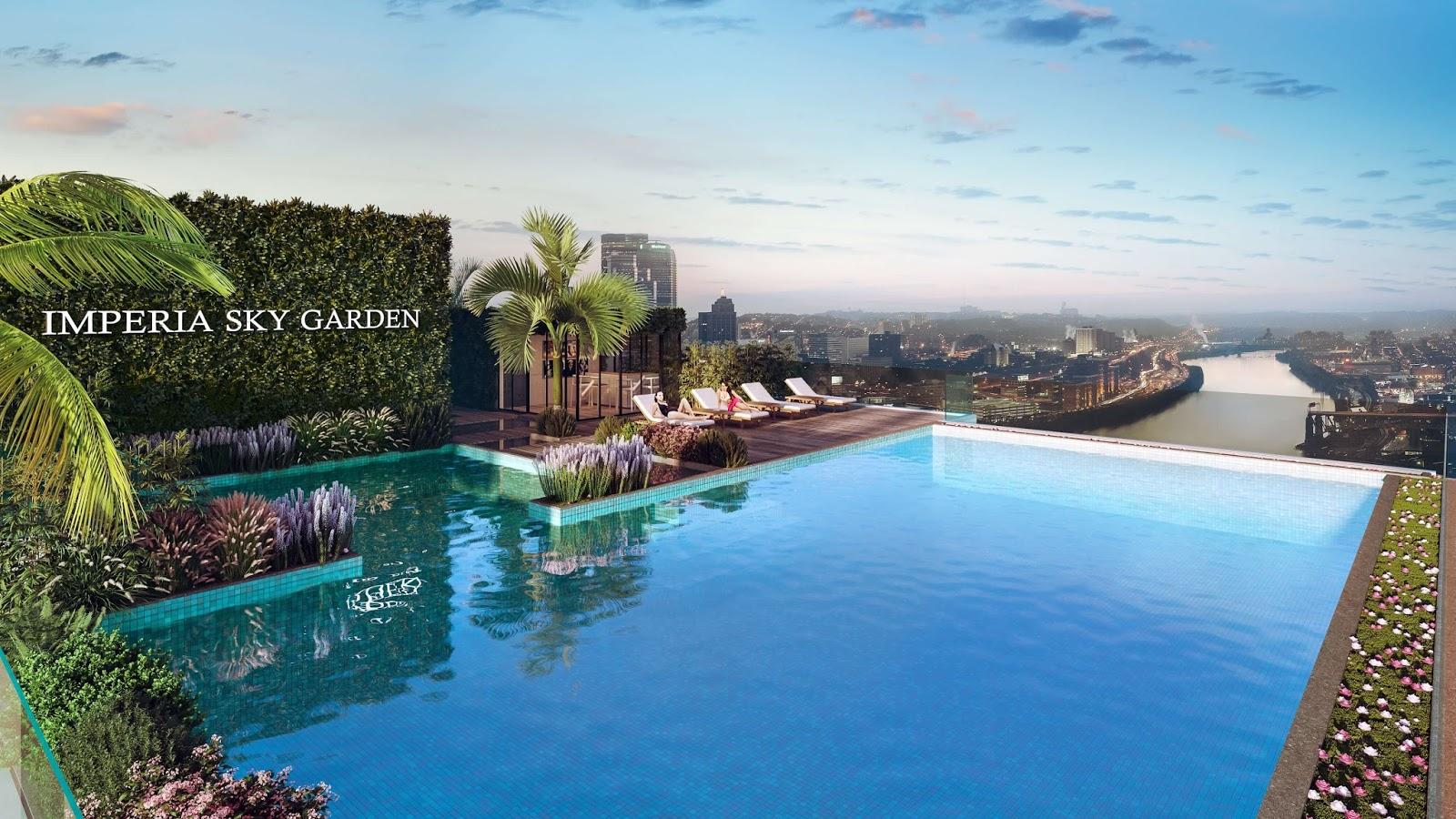 Bể bơi ngoài trời dự án chung cư Imperia Sky Garden 423 Minh Khai