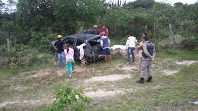 Capotamento deixa 3 vítimas fatais entre Barra de Santa Rosa e Damião