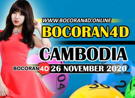 Bocoran 4D Cambodia 26 November 2020