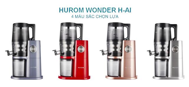 Máy ép chậm - HUROM WONDER H-AI, Bốn màu sắc lựa chọn  - lgvietnam.top