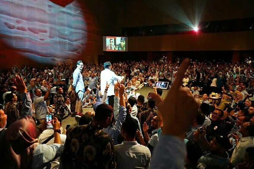 Media Bungkam, Begini Penampakkan Deklarasi 1000 Pengusaha Dukung 02