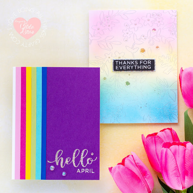 Spring Inspired Rainbow Cards | Spellbinders April 2020 Glimmer Hot Foil Kit of the Month