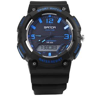 jam tangan biru