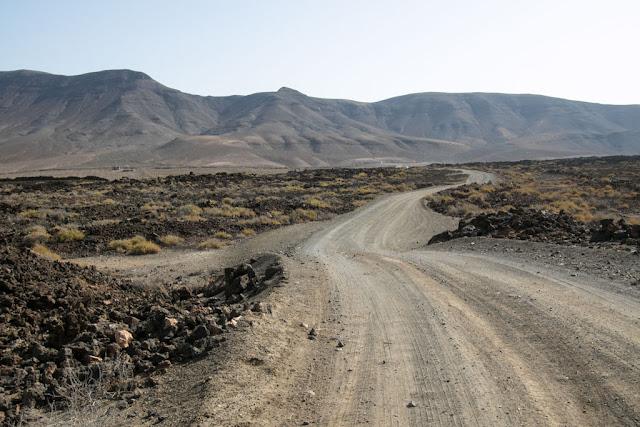 Strada per la spiaggia di Cofete-Fuerteventura