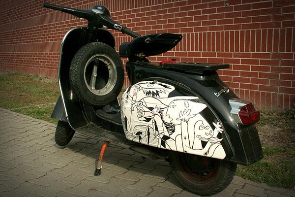 Xe Vespa độ đẹp nhất theo hai hướng độ chính của dân chơi xe