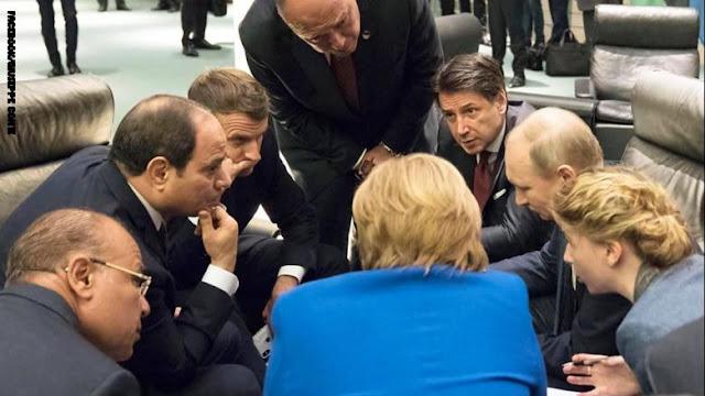 """صورة السيسي مع قادة """"مؤتمر برلين"""" تحظى بتداول واسع"""