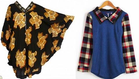 baju blus untuk wanita gemuk