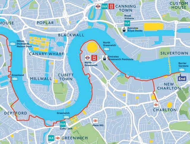 ruta del Thames Path en Londres