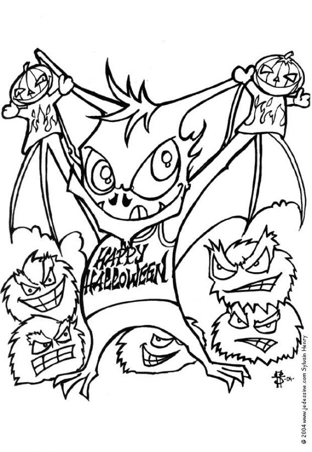 Transmissionpress 8 Halloween Bat Coloring Pictures