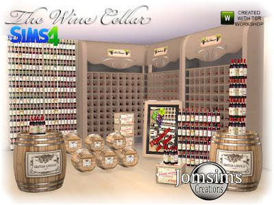 The wine cellar sims 4 Винный погреб sims 4 для The Sims 4 Здесь находится винный погреб, для Sims 4. мебель, бутылки deco misc, различные декоративные предметы на тему вина. В шкафу для хранения бутылок есть 4 бутылки, которые вы оцените, используя 102 слота для размещения, которые я вставил. Автор: jomsims
