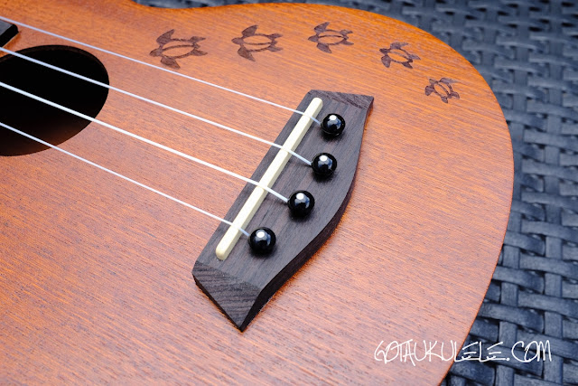Islander MS-4 Soprano Ukulele bridge
