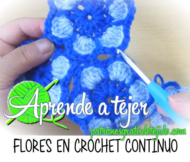 Como tejer flores en dos colores unidas - tutorial ganchillo