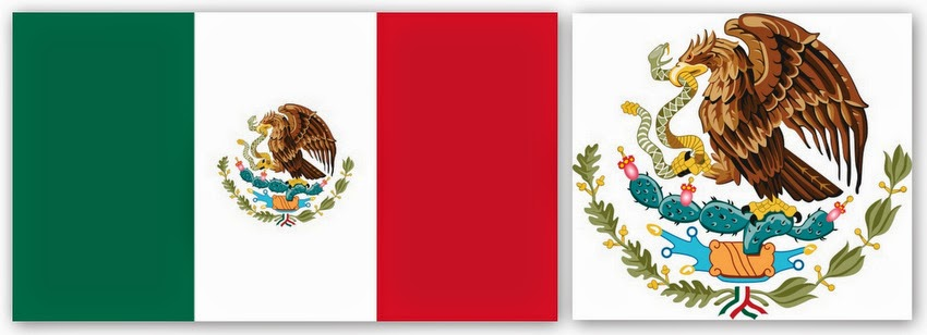 Флаг и герб Мексики